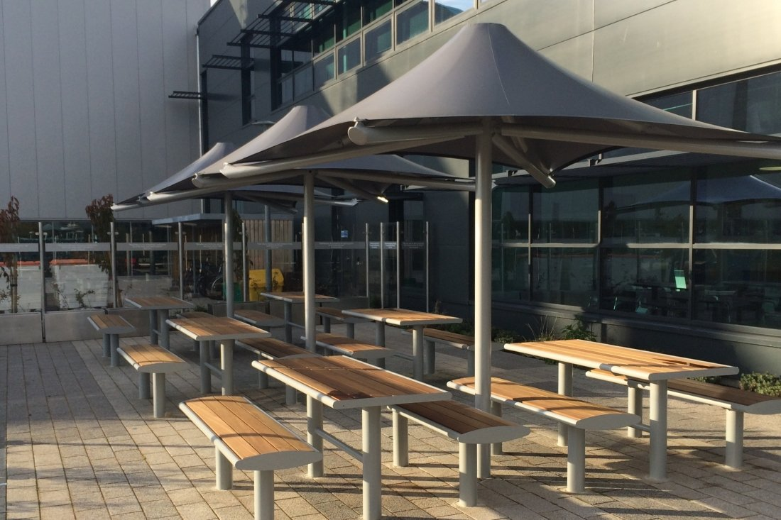 Atacama Commercial Tensile Umbrella by Tensile Fabric Structures Ltd