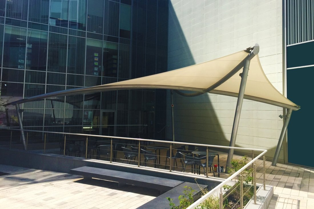 Coro Fabric Canopy by Tensile Fabric Structures Ltd
