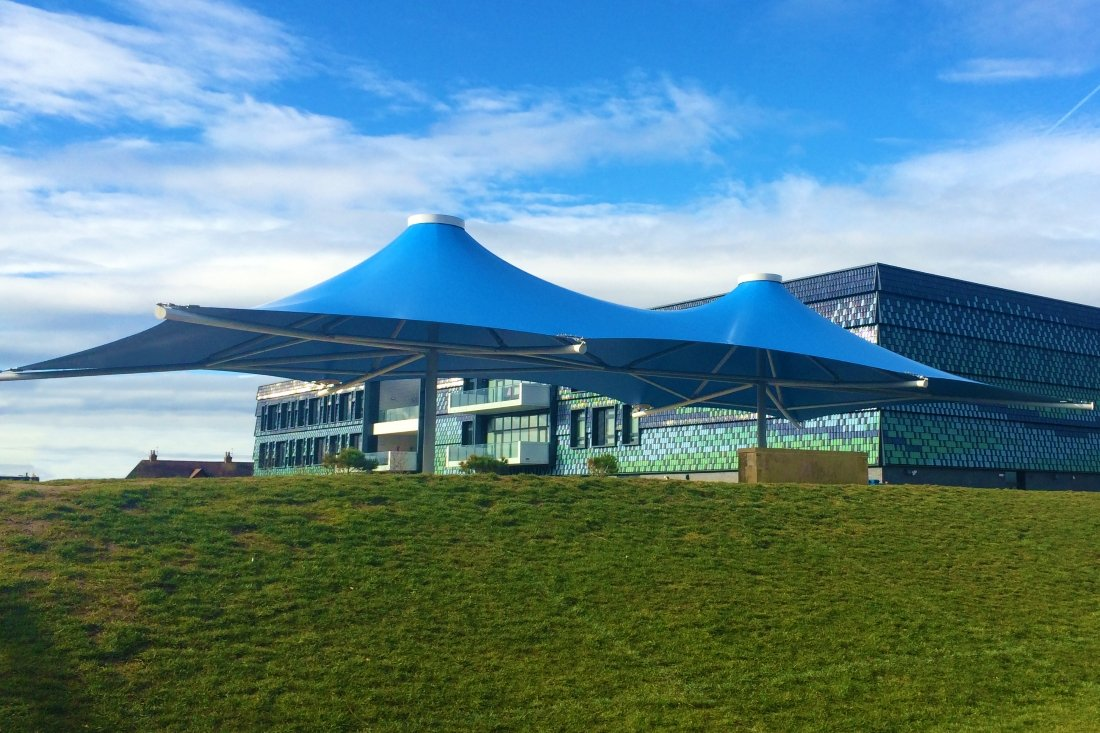 Sahara Double Conic Canopy by Tensile Fabric Structures