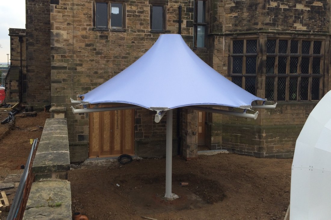 Staveley Hall - Bespoke tensile conic by Tensile Fabric Structures Ltd