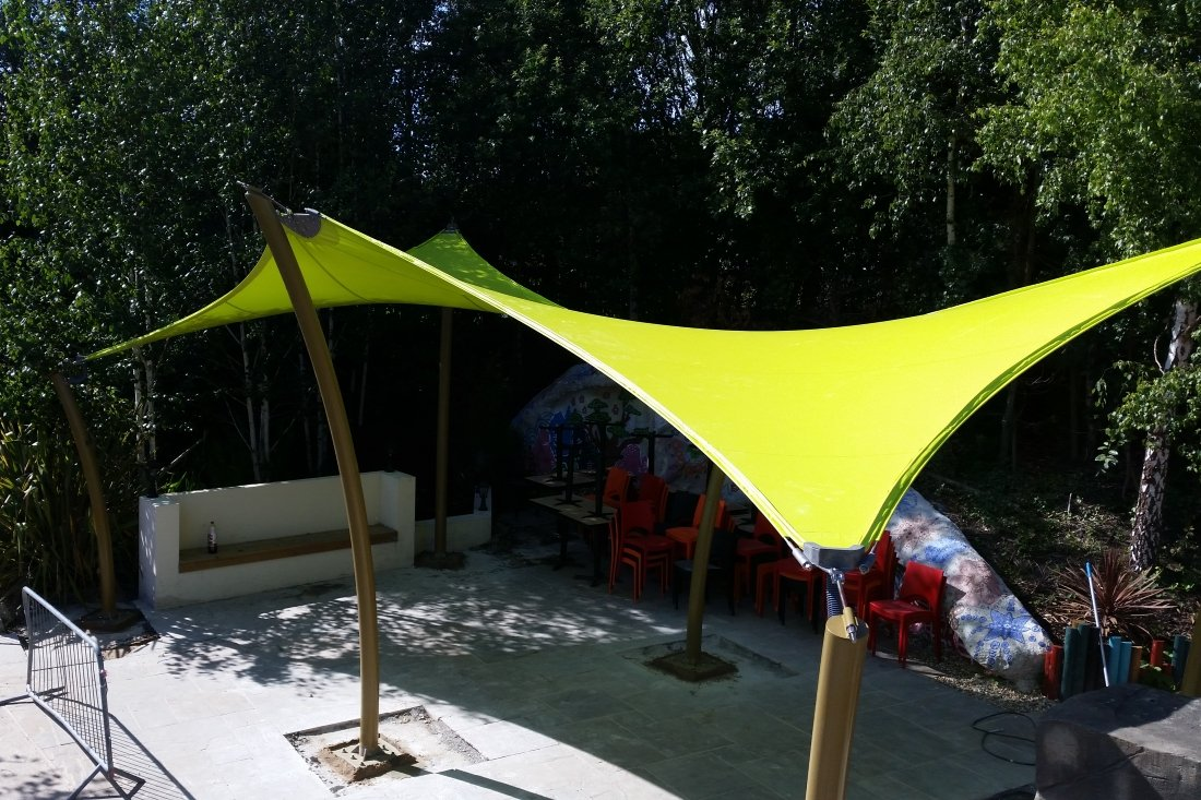 Double Tempest Hypar Canopy by Tensile Fabric Structures