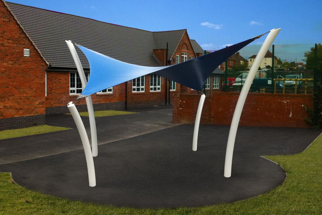 Tempest Hyperbolic Tensile Shade Sail by Tensile Fabric Structures Ltd
