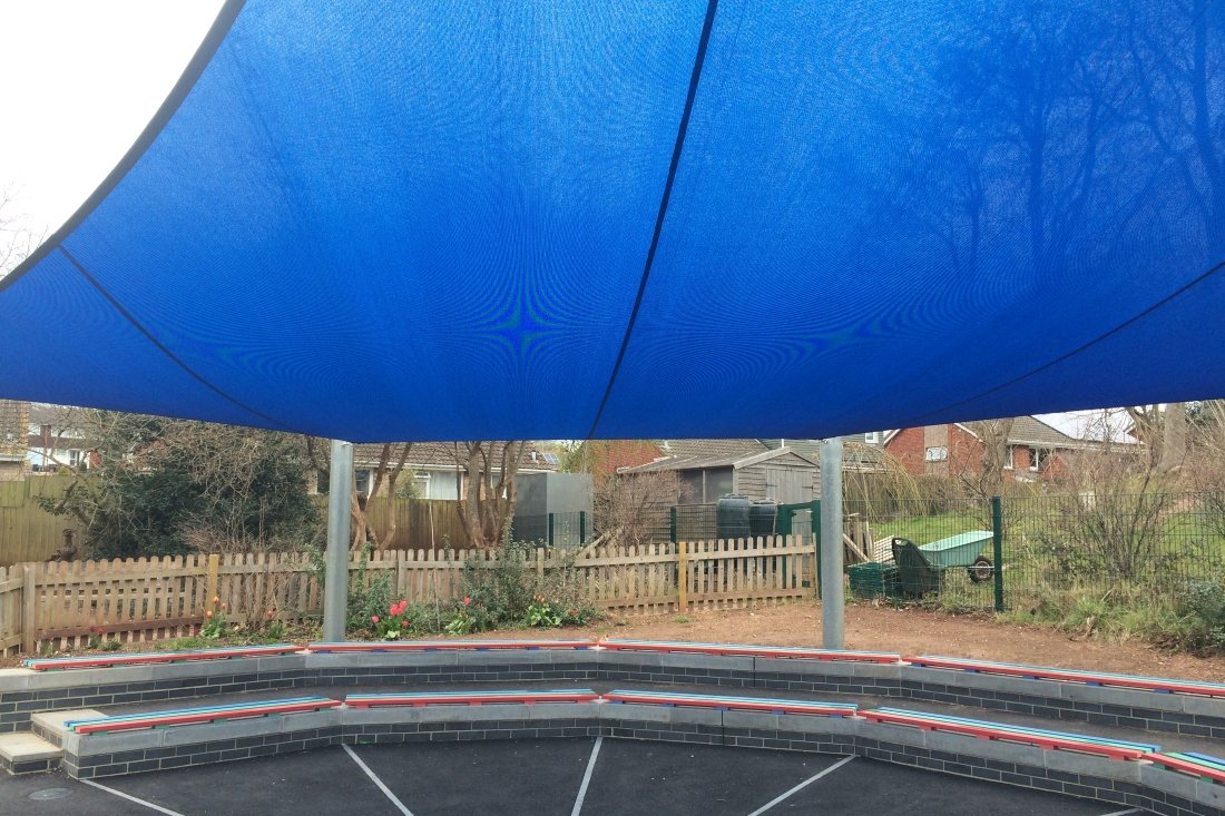 Replacement Shade Sail for Woodwater Academy, Devon