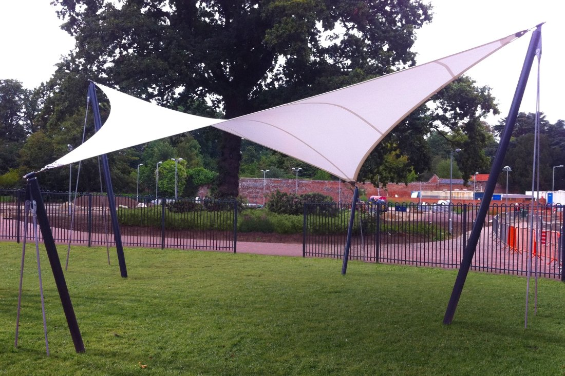 Zonda Hyperbolic Tensile Sail by Tensile Fabric Structures Ltd