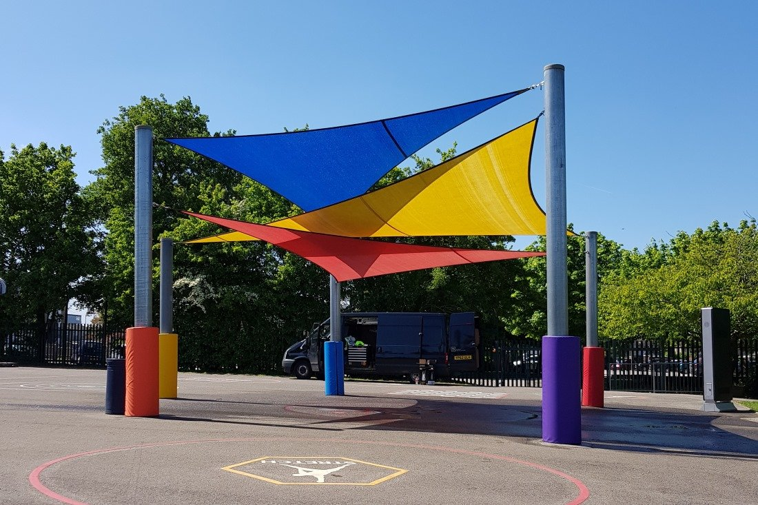 Shade Sail Structures For Schools by Tensile Fabric Structures Ltd