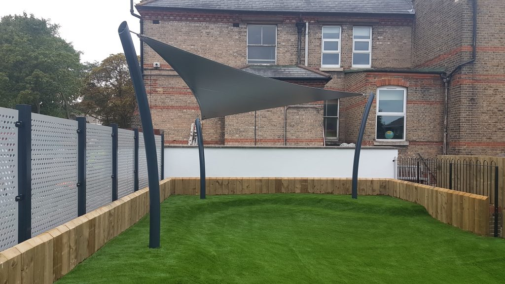 Bespoke triangular school canopy