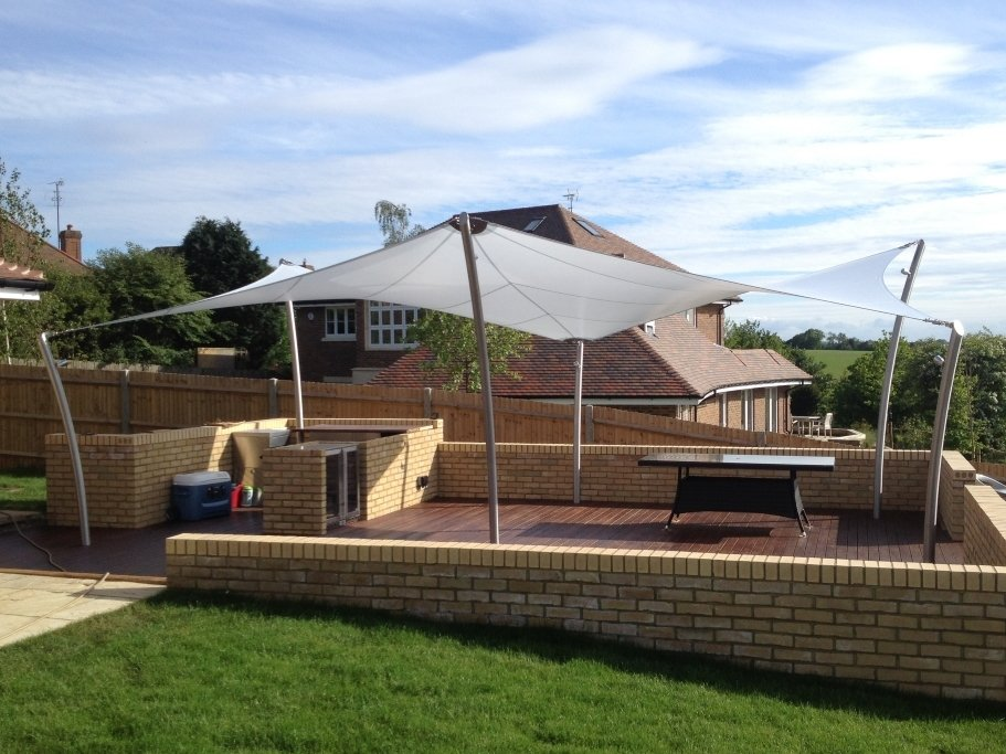 Shade Sails for home and garden by Tensile Fabric Structures Ltd