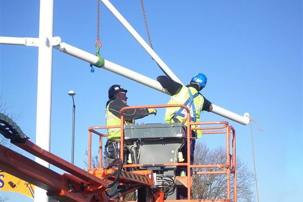 Installation of tensile structure