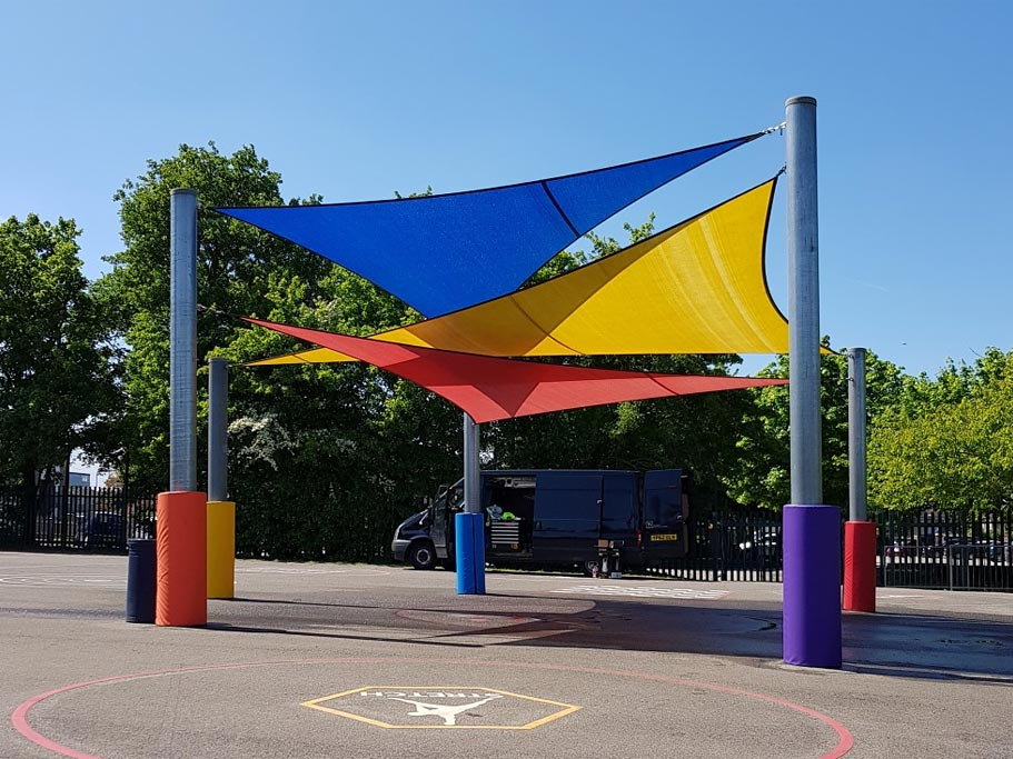 Example of a commercial shade sail